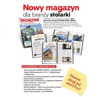 """Kolejny numer """"Montera Stolarki już wkrótce""""!"""
